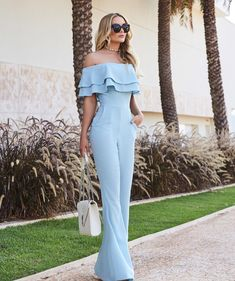 14 Palazzo Pants Outfit For Work - The Finest Feed Classy Outfits, Chic Outfits, Fashion Outfits, Jumpsuit Outfit, Pants Outfit, Formal Looks, Jumpsuits For Women, African Fashion, Dress To Impress