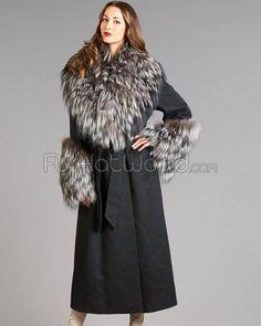 Royal saga fox fur coat jacket fuchs pelz wie zobel sable mink ...