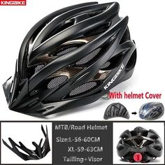 Ultralight Bicycle Helmet With Rear Light and Detachable Visor