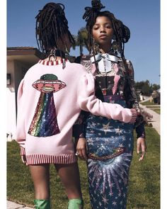 "3,178 Likes, 25 Comments - @instylemagazine on Instagram: ""How to turn heads? Wear head-to-toe @gucci looks. @chloeandhalle's coordinating looks are so out of…"""