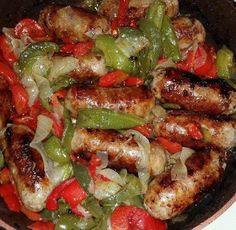 enjoy & have a nice meal !!!: RECIPE : SAUSAGE ,PEPPERS & ONIONS