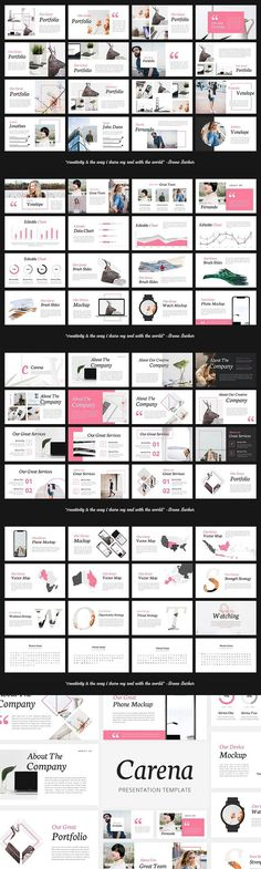 Carena - Lookbook Style Keynote . Presentation Templates