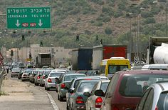 israel cars. Traffic.