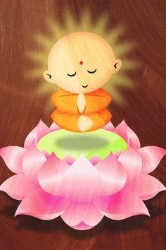 Little Buddha Android Wallpaper HD Buddha Drawing, Buddha Art, Buddha Painting, Baby Buddha, Little Buddha, Namaste, Childrens Yoga, Hd Wallpaper Android, Yoga For Kids