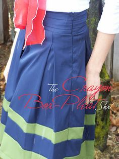 Made by Me. Shared with you.: The Crayon Box Pleat Skirt: Tutorial Part 1