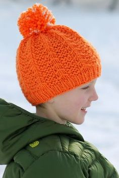 """Balls to the Walls Knits: Little Tent Hat, Free Pattern, One 16"""" circular needle in size US 9, one 16"""" circular needle in size US 10, and one set of double pointed needles (dpns), also in size US 10 Sizes: Toddler (Child; Teen/Small Adult; Large Adult)"""