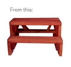 Before and After: Porch Steps Turned DIY Coffee Table