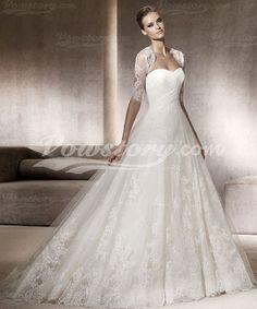Vestido de novia Corte Evasé Cola Tribunal (PVH007) - Vowstory
