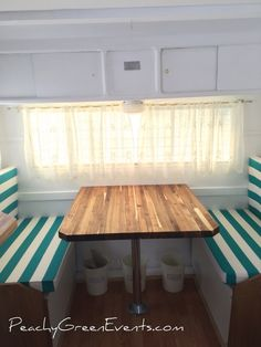 We fell in love with this butcher block style counter, much more sturdy than the plywood table top that used to be in The Peachy Green Sidecar, mobile bar for hire Plywood Table, Mobile Bar, Sidecar, Counter, Dining Table, Events, Green, Top, Furniture
