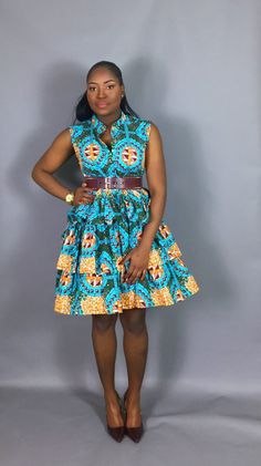 Short African Dresses, Latest African Fashion Dresses, African Print Dresses, African Print Fashion, Africa Fashion, Ankara Fashion, African Prints, Kente Styles, Ankara Gown Styles