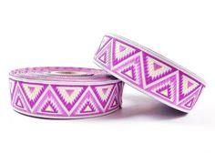 Pink Purple & Lemon Chevron Triangle Woven by TurkishTwinkles, $3.75