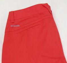 Women Columbia Kenzie Cove Walking Bermuda Shorts Red Hibiscus 100% Cotton sz 10 #Columbia #BermudaWalking