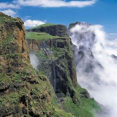 Drakensberg Mountains, South Africa/// in Natal where I live South Afrika, Namibia, Out Of Africa, Africa Rocks, Kwazulu Natal, Africa Travel, Aerial View, Wonders Of The World, Adventure Travel