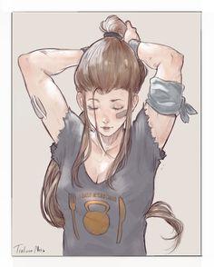Brigitte (Overwatch),Overwatch,Blizzard,Blizzard Entertainment,фэндомы,Trung Doan,Overwatch art