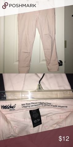 Selling this Mossimo light pink cropped leggings size 12 on Poshmark! My username is: amandaadams16. #shopmycloset #poshmark #fashion #shopping #style #forsale #Mossimo Supply Co #Pants
