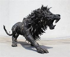 This Artist Takes Old Tires and Turns Them Into Epic Pieces of Art