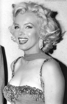 Marilyn Monroe at a benefit for St. Jude Hospital, 1953.   This picture gets me every time