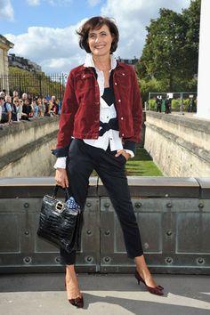 Ines De La Fressange at Dior Front Row. #pfw