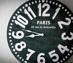 Paris Black & White Clock