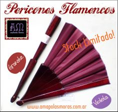 Recien llegaditos de españa! PERICONES FLAMENCOS, de 32cm de varilla. *Hacemos descuentos por compras en cantidad y para acadiemias* AmapolasMoras - Accesorios Flamencos - Argentina
