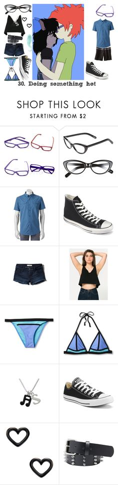 """""""30. Doing something hot (Sheckie)"""" by brainyxbat ❤ liked on Polyvore featuring Elizabeth and James, Columbia, Converse, Abercrombie & Fitch, American Apparel, Xhilaration and Marc by Marc Jacobs"""