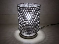 This lamp shade is made with recycled aluminum can tabs. I have hundreds thanks to my daughter and @Rob Rusch. #recycle #diy #lamp #upcycle #craft #hack