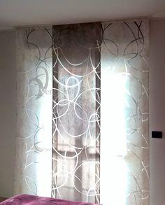 Modern panel curtains- Tende a pannelli moderne Modern panel curtains - Curtains With Blinds, Panel Curtains, Living Room Windows, Sweet Home, Wallpaper, Curtain Ideas, Home Decor, House, Border Tiles