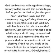 Dating with godliness and contentment