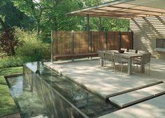 Picture of Water Feature Ideas Garden House in Modern Gardens Ideas ...