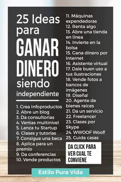 25 Ideas para Ganar Dinero Siendo Independiente work from home,work from home tips,work from home jo Personal Branding, Personal Finance, Business Tips, Online Business, Business Coaching, Business Opportunities, Content Manager, Bussines Ideas, Little Bit
