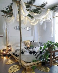 Modern Bohemian Bedrooms & Home Interior Decor Ideas: With the passage of time the demand and trend of the bohemian home decoration has been becoming the main talk of the town. Bohemian Bedrooms, Bohemian Decor, Modern Bohemian, Bohemian Style, Bohemian Bedding, Bohemian Interior, Bohemian Design, Interior Styling, Interior Design