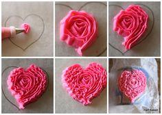 Half Baked: Ruffle Heart Cake {tutorial}