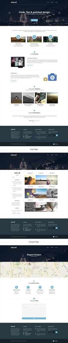 Corporate Web Design Template PSD | GraphicBurger