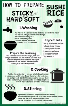 Learning how to prepare sushi can take some time, especially if you are not too familiar with Japanese culture. Thankfully, you can learn how to cook great Asian foods with some practice. This guide by suitcaseonthesofa.com shows you how to better prepare sushi rice: Don't forget to check the other travel infographics that the guys …