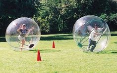Run around in one of those giant hamster balls for humans
