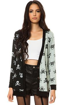 The Cross Bones Cardigan by Reverse  I want this!