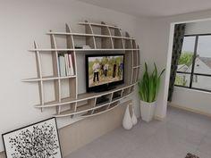 Modern Ellipse Wall Shelf