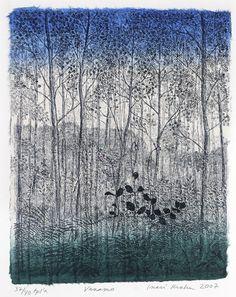Inari Krohn(Finnish, b.1945)  Vanamo    2007  Viivasyövytys, akvatinta, chine collee/Etching, aquatint, chine Collée