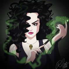 Cartoon Cookie - The most evil witch from Harry Potter, Bellatrix...