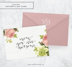 Free Printable Mothers Day Card - Saffron Avenue