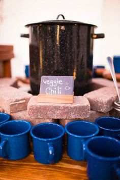 Invite guests to self-serve and enjoy hot chili at your wedding.