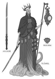 ArtStation - King of Avarie, Bastien Limelette Fantasy Concept Art, Fantasy Character Design, Character Design Inspiration, Character Concept, Character Art, Fantasy Art, Creature Concept Art, Creature Design, Science Fiction