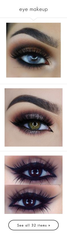 """""""eye makeup"""" by maddie-chapla ❤ liked on Polyvore featuring beauty products, makeup, eye makeup, eyes, beauty, eyebrow makeup, eye brow makeup, brow makeup, eyebrow cosmetics and too faced cosmetics"""