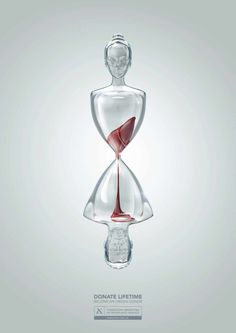 """DDB Argentina encourages the public to """"Donate Lifetime"""" with their powerful organ donation ads featuring people as hourglasses. Creative Advertising, Ads Creative, Advertising Design, Advertising Campaign, Advertising Poster, Campaign Posters, Advertising Ideas, Creative Ideas, Organ Donation Poster"""