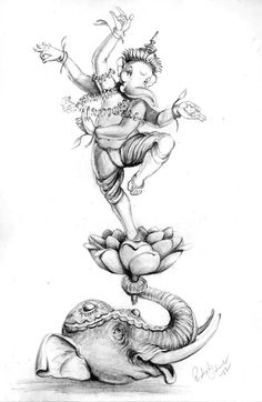 Ganesha Sketch, Ganesha Drawing, Lord Ganesha Paintings, Ganesha Art, Shiva Art, Krishna Art, Hindu Art, Elefante Hindu, Ganesha Pictures