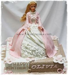 Barbie Doll Cake-Adding more cake under the dress Barbie Theme, Barbie Cake, Barbie Birthday, Barbie Party, Barbie Dolls, Princess Birthday, Princess Party, Pretty Cakes, Cute Cakes