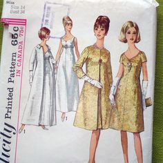 1960s Vintage Sewing Pattern  Evening Dress and by SelvedgeShop, $9.00