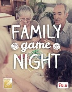 Pick one night a week to turn off the gadgets and play a few games together. A recent survey found 91% of families who played games together improved their mood! @pastafits has ideas for activities and fun game night recipes.