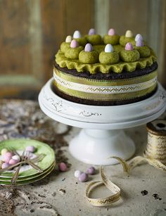 Chocolate orange Simnel cake with pistachio marzipan. Needing inspiration for Easter Baking? Then this is the perfect cake for you, where you can celebrate Easter with this showstopper. Simnel Cake, Chocolate Orange, How To Make Chocolate, Spring Recipes, Easter Recipes, Marzipan Cake, Easter Treats, Easter Food, Cake