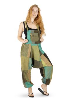 Wicked Dragon Clothing - Patchwork harem dungarees up to PLUS size Print Patterns, Sewing Patterns, Overalls Vintage, Print Ideas, Dream Closets, Festival Wear, Dungarees, Hippie Boho, Wicked